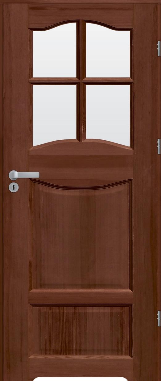 Drzwi sosnowe wewnętrzne WZ 06 łazienkowe