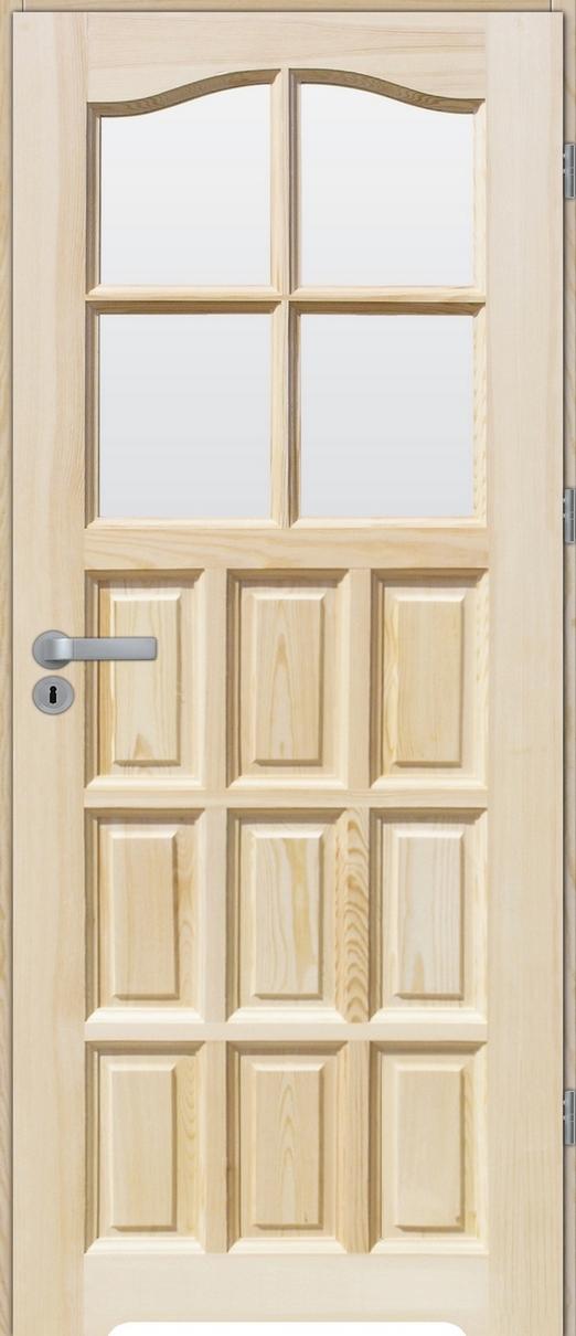 Drzwi sosnowe wewnętrzne STANDARD łazienkowe