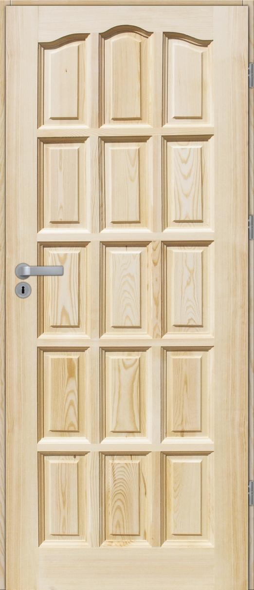 Drzwi sosnowe wewnętrzne STANDARD pełne