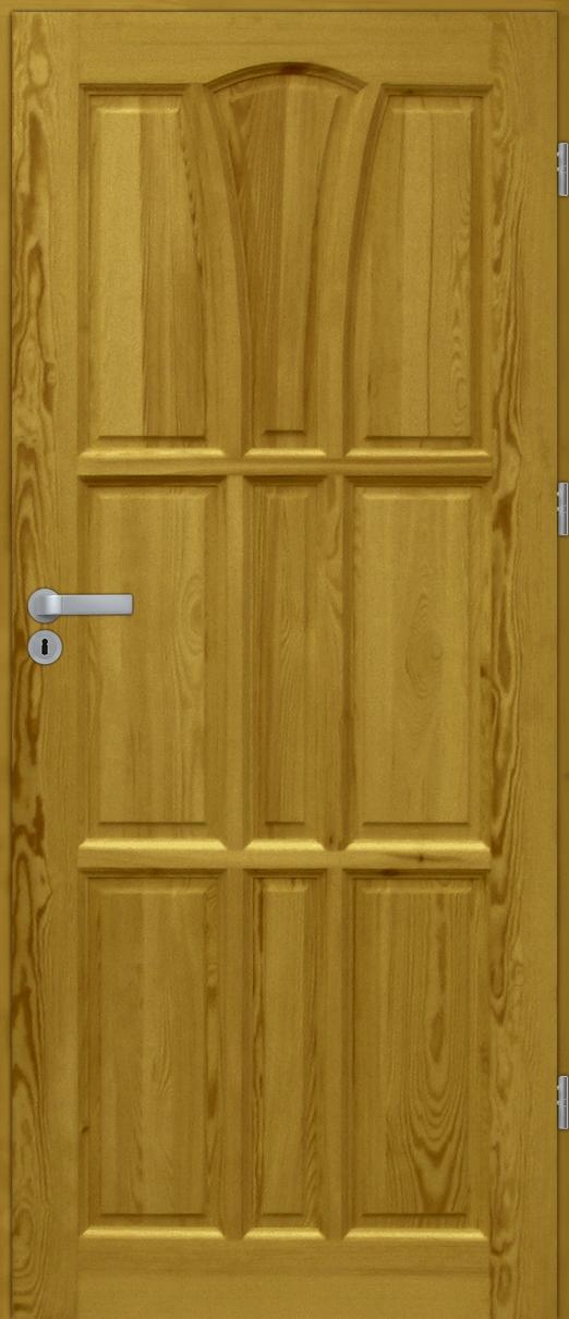 Drzwi sosnowe wewnętrzne DELTA pełne