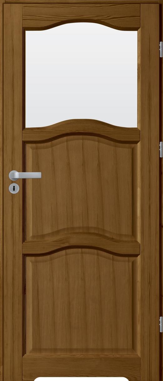 Drzwi sosnowe wewnętrzne HUGO łazienkowe