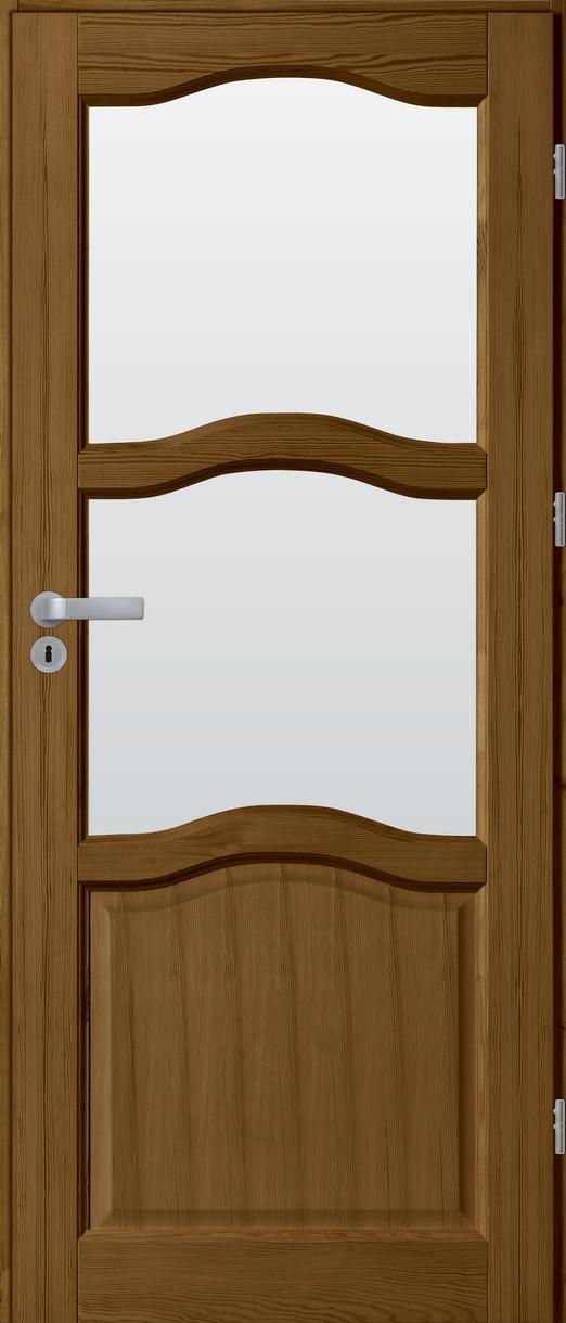 Drzwi sosnowe wewnętrzne HUGO pokojowe 2szyby