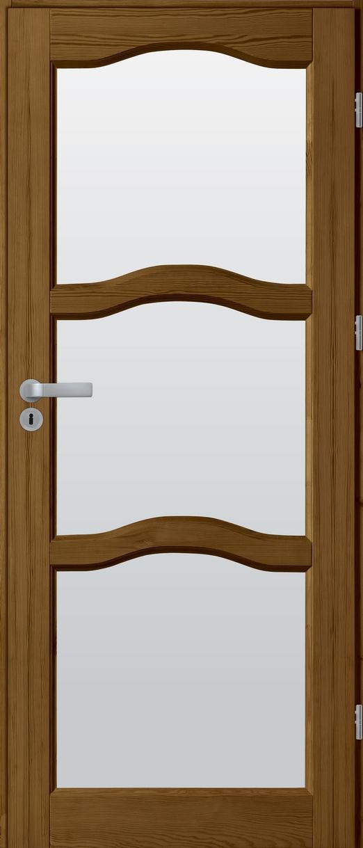 Drzwi sosnowe wewnętrzne HUGO pokojowe 4szyby