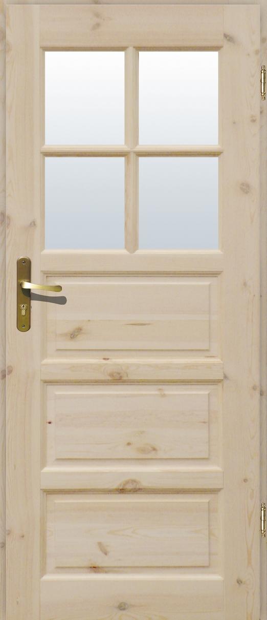 Drzwi sosnowe wewnętrzne ILAWA łazienkowe