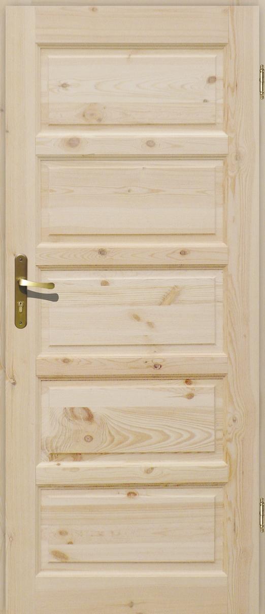 Drzwi sosnowe wewnętrzne ILAWA pełne