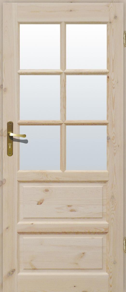 Drzwi sosnowe wewnętrzne ILAWA pokojowe