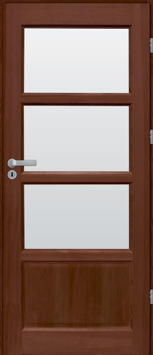 Drzwi sosnowe wewnętrzne S pokojowe 3szyby