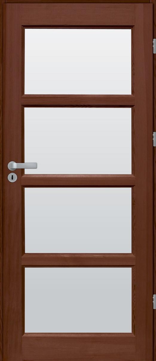 Drzwi sosnowe wewnętrzne S pokojowe 4szyb
