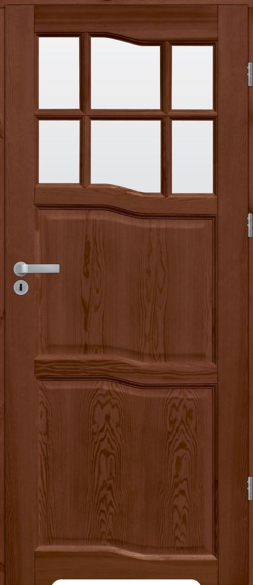 Drzwi sosnowe wewnętrzne WZ09 łazienkowe