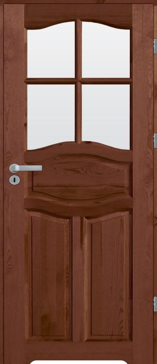Drzwi sosnowe wewnętrzne WZ96XL łazienkowe