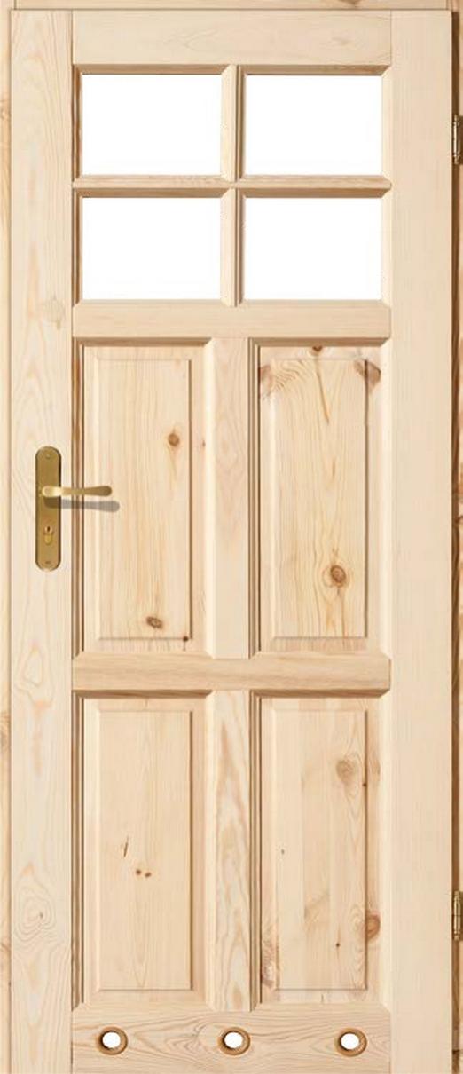 Drzwi sosnowe wewnętrzne ZD łazienkowe