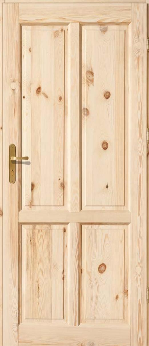 Drzwi sosnowe wewnętrzne ZD pełne